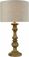 Dimond 1202-006 Haute-Vienne  Natural Stain Side Table Lamp