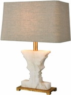 Dimond 1202-007 Cheviot Hills White Alabaster / Gold Leaf Table Light
