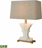 Dimond 1202-007-LED Cheviot Hills White Alabaster / Gold Leaf LED Table Lighting