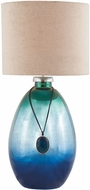 Dimond 8468-087 Kingfisher Pacific Blue Mercury Table Lamp