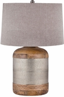 Dimond 8983-021-LED Mango Wood / German Silver LED Lighting Table Lamp