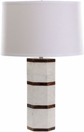 Dimond 8989-008 Contemporary White Marble / Shesham Wood Lighting Table Lamp