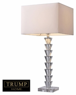 Dimond D1482 Fifth Avenue Contemporary Clear Crystal   Finish 14 Wide Lighting Table Lamp