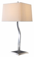 Dimond D1517 Yeadon Contemporary Chrome Finish 13 Wide Table Lamp