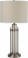 Dimond D2436 Pendleton Contemporary Antique Mercury Glass / Brushed Steel Table Lamp Lighting