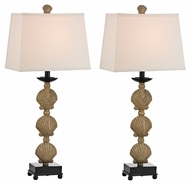 Dimond D2449S/2 Breamore Galati Gold Finish 32  Tall LED Buffet Lamp (2 Pack)