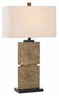 Dimond D2456 Shaftesbury Galati Gold Finish 32  Tall LED Table Top Lamp