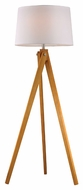 Dimond D2469 Wooden Tripod Natural Wood Tone Finish 63  Tall LED Floor Lamp Lighting