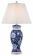 Dimond D2474 Blue & White Blue And White Hand Paint Finish 16  Wide LED Table Top Lamp