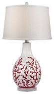 Dimond D2479 Sixpenny Red With White Finish 27  Tall LED Lighting Table Lamp