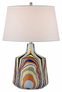 Dimond D2491 Technicolor Stripes Contemporary Technicolor Stripes Finish 16  Wide LED Lighting Table Lamp