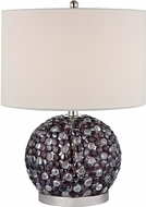 Dimond D2492 Amethyst Stone Amethyst / Clear Side Table Lamp