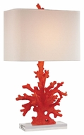 Dimond D2493 Red Coral Modern Red Coral Finish 16  Wide LED Table Top Lamp
