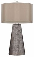 Dimond D2496 Stafford Heavy Metal Mercury Finish 18  Wide LED Table Lamp