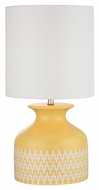 Dimond D2503 Chepstow Sunshine Yellow With Extended Chevron Pattern Finish 10  Wide LED Table Top Lamp