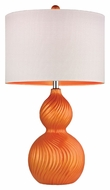 Dimond D2506 Carluke Tangerine Orange Finish 26  Tall LED Table Light