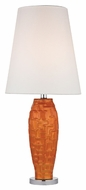 Dimond D2507 Hawick Tangerine Orangewith Polished Nickel Finish 12  Wide LED Table Lighting