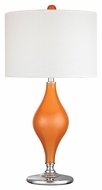 Dimond D2508 Tilbury Tangerine Orange With Polished Nickel Finish 27  Tall LED Lighting Table Lamp