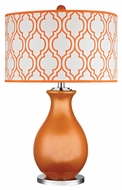 Dimond D2511 Thatcham Tangerine Orange With Polished Nickel Finish 26  Tall LED Table Lamp Lighting