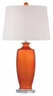 Dimond D2512 Halisham - Tangerine Tangerine Orangewith Polished Nickel Finish 15  Wide LED Table Top Lamp