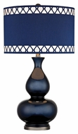 Dimond D2516 Heathfield Navy Blue With Black Nickel Finish 16  Wide LED Table Lamp