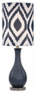 Dimond D2517 Hitchin Navy Blue With Black Nickel Finish 24  Tall LED Table Light