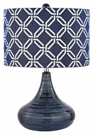 Dimond D2519 Peebles Navy Blue Finish 21  Tall LED Lighting Table Lamp
