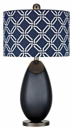 Dimond D2521 Sevenoakes Navy Blue With Black Nickel Finish 25  Tall LED Table Top Lamp