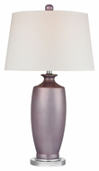Dimond D2527 Hamisham - Lilac Luster Lilac Luster With Polished Nickel Finish 27  Tall LED Lighting Table Lamp
