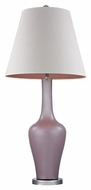 Dimond D2529 Caistor Lilac Luster With Polished Nickel Finish 38  Tall LED Table Top Lamp