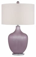 Dimond D2531 Harlow Lilac Luster With Polished Nickel Finish 28  Tall LED Side Table Lamp