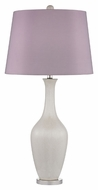 Dimond D2532 Highworth Cream Crackle With Polished Nickel Finish 16  Wide LED Table Lamp