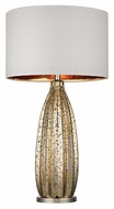 Dimond D2533 Pennistone Antique Gold Mercury With Polished Nickel Finish 31  Tall LED Table Light