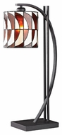 Dimond D2541 Eastbourne Tiffany Matte Black Finish 13  Wide LED Table Lamp