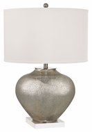 Dimond D2544 Edenbridge Antique Silver Mercury Glass With Crystal Finish 28  Tall LED Lighting Table Lamp