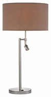 Dimond D2551 Beaufort Satin Nickel Finish 15  Wide LED Table Top Lamp
