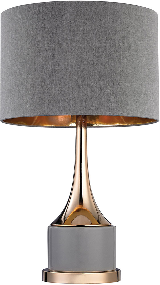 Dimond d2748 led contemporary grey gold led table lamp for Modern led table lamps