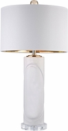 Dimond D2752 Modern Gloss White / Gold Table Lamp Lighting