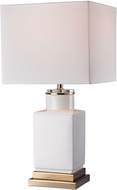 Dimond D2753 Modern Gloss White / Gold Side Table Lamp