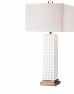 Dimond D2758-LED Contemporary Gloss White / Gold LED Side Table Lamp