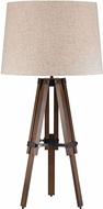 Dimond D2816 Modern Walnut / Oil Rubbed Bronze Side Table Lamp