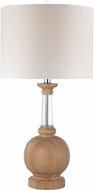 Dimond D2834-LED Light Washed Wood / Clear Crystal LED Table Lamp