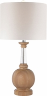 Dimond D2834 Light Washed Wood / Clear Crystal Side Table Lamp