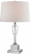 Dimond D2838-LED Clear Crystal / Chrome LED Side Table Lamp