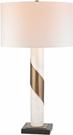 Dimond D2844 Modern White Marble / Antique Brass Side Table Lamp