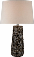 Dimond D2878-LED Contemporary Chocolate Brown Glaze LED Table Top Lamp
