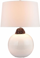 Dimond D2881-LED Contemporary White / Brown LED Table Lamp Lighting