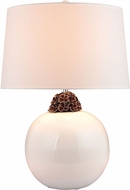 Dimond D2881 Modern White / Brown Lighting Table Lamp