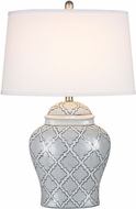 Dimond D2920 Aragon Blue And White Glaze Table Lamp Lighting