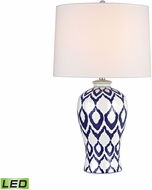 Dimond D2921-LED Kew Blue And White Glaze LED Table Lamp